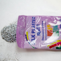 Блёстки Серебро точка Декоративная добавка для жидких обоев SILK PLASTER